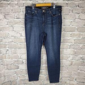 Torrid Premium Sky High Skinny Jeans 18R Dark Wash